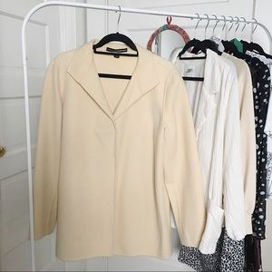 Ellen Tracy and Linda Allard Cream Wool Coat